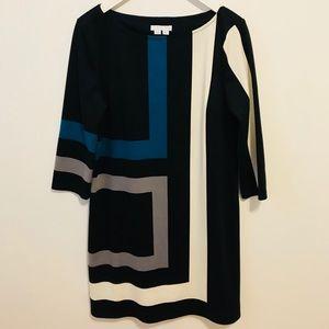 London Times color block Dress